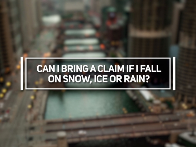 Can I Bring a Claim if I Fall on Snow, Ice or Rain